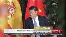 El presidente chino Xi Jinping espera cooperación más estrecha con España