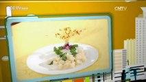 De China a Tu Cocina - Camarón pelado con verduras verdes+Pastel con forma de crisantemo