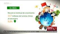 Informe revela que número de turistas chinos al extranjero crece 9,8% en 2015