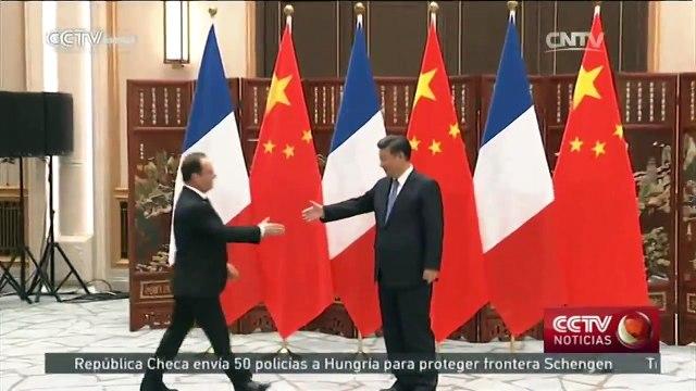 Presidente chino se reúne por separado con líderes de Francia, Alemania y Reino Unido