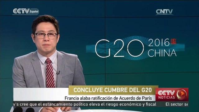 Francia alaba ratificación de Acuerdo de París