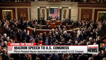 Macron denounces nationalism in speech to U.S. Congress
