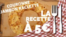 RECETTE À 5€ : Couronne feuilletée au jambon et raclette