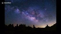 Stunning timelapse captures Milky Way over Death Valley