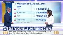 Grève SNCF: 1 TGV sur 3, 2 TER sur 5...les prévisions de trafic de la SNCF pour ce mardi