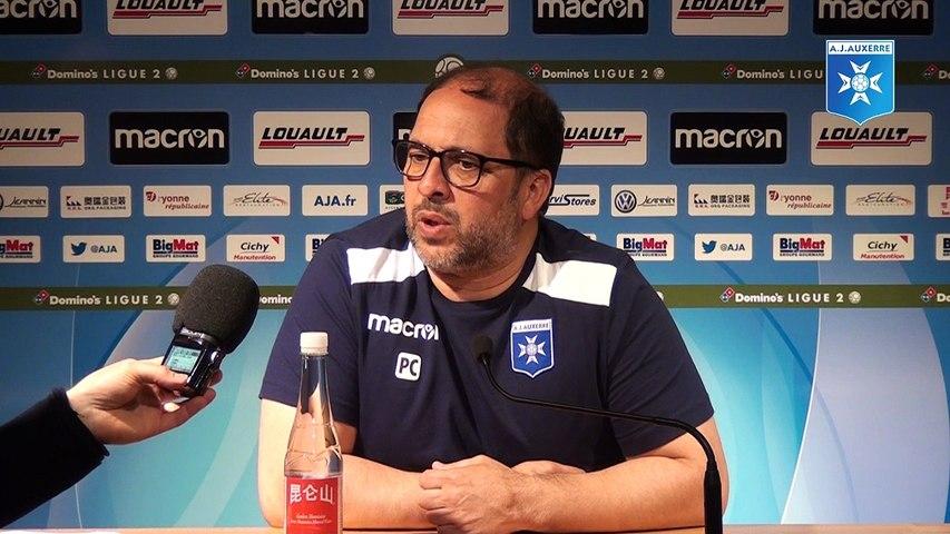 Conférence de presse de Pablo Correa avant AJA - Stade de Reims