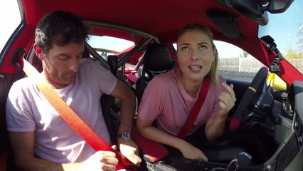 Maria Sharapova and Mark Webber in a Porsche 911 GT2 RS