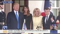 Emmanuel Macron accueilli par Donald Trump à la Maison Blanche