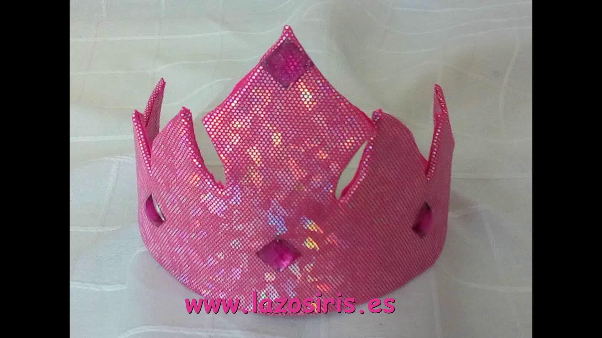 Como hacer una corona de princesa paso a paso