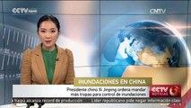 Presidente chino Xi Jinping ordena mandar más tropas para control de inundaciones