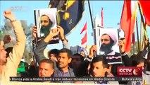 Manifestantes en Irak denuncian la ejecución del clérigo Nimr