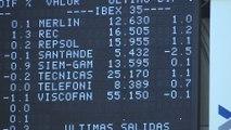 El Banco Santander cae un 2,5% tras presentar resultados y lleva al Ibex a las pérdidas