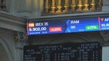 Inditex y Repsol ayudan al Ibex a conservar los 9.900 puntos a pesar de las pérdidas de Santander