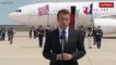Emmanuel Macron arrive à Washington le 23 avril 2018
