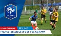 U16 Féminine, Amicaux : France-Belgique (1-0 et 1-0), le résumé I FFF 2018