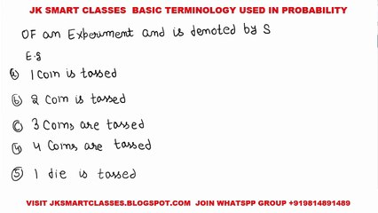 Probability #2 Basic Term or Terminology of Probability|Random Experiment| Sample Space|Trails|Hindi