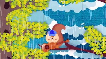Rain Rain Go Away ( squirrels musicians ) | Song for Kids & Nursery Rhymes - KidsMegaSongs