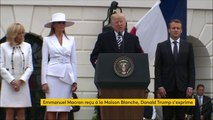 """Donald Trump rend hommage au colonel Arnaud Beltrame, mort lors de la prise d'otage de Trèbes : il """"a regardé le mal droit dans les yeux et n'a pas vacillé. Il a sacrifié sa vie pour ses voisins, pour son pays et pour la civilisation"""""""