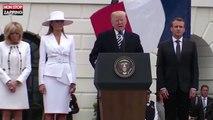 Arnaud Beltrame : Donald Trump lui rend hommage devant Emmanuel Macron (Vidéo)