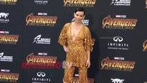 "Evangeline Lilly ""Avengers Infinity War"" World Premiere Purple Carpet"