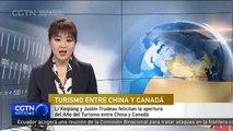 Li Keqiang y Justin Trudeau felicitan la apertura del Año del Turismo entre China y Canadá