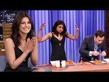 Priyanka Chopra BEATS Jimmy Fallon In HOT WINGS CHALLENGE