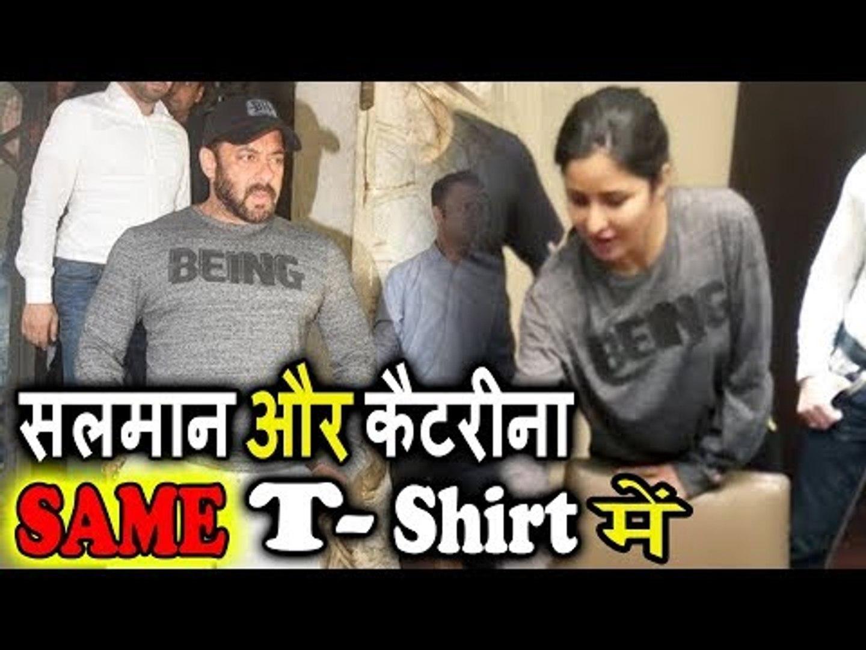 Salman Khan और Katrina Kaif ने पहना एक जैसा T-shirts