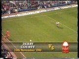 Derby County - Nottingham Forest 24-11-1990 Division One