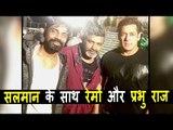 Salman Khan ने किया  Remo D'souza और Prabhu Raj के साथ Pose