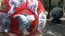 Ruedan balones gigantes en la Ciudad de México, con el Ball Parade
