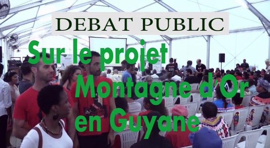 Débat Public sur le projet Montagne d'Or en Guyane-réunion-ouverture-partie1