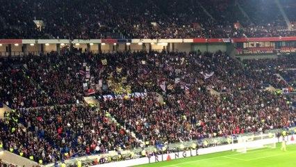Lyon PSG tribunes