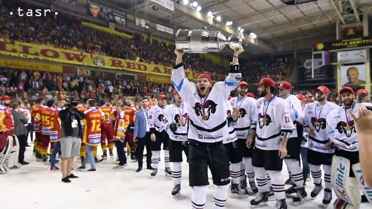 Hokejisti Banskej Bystrice zvíťazili v rozhodujúcom siedmom finálovom zápase play off Tipsport Ligy 2017/2018