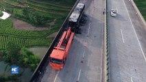 Al menos 35 muertos en incendio de autobús en China