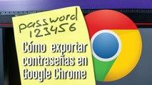 Cómo exportar todas las contraseñas guardadas en Google Chrome