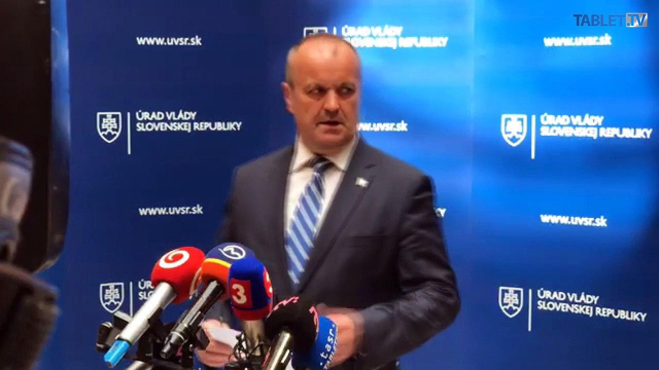 ZÁZNAM: Minister Peter Gajdoš po rokovaní vlády