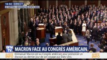 Standing ovation pour Emmanuel Macron à son arrivée devant le Congrès américain