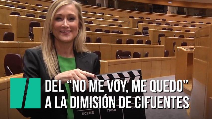"""""""No me voy, me quedo"""", cuando Cristina Cifuentes decía que no iba a dimitir"""