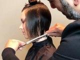 How To Cut a Layered Bob Haircut - Layered haircut techniques