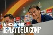 Replay | La conférence de Rudi Garcia & Florian Thauvin OM - FC Salzbourg