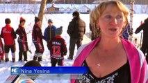 Competencia de natación de invierno inicia en Rusia Central