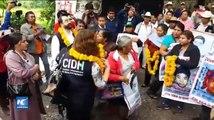 Padres de normalistas y CIDH se reúnen en Ayotzinapa