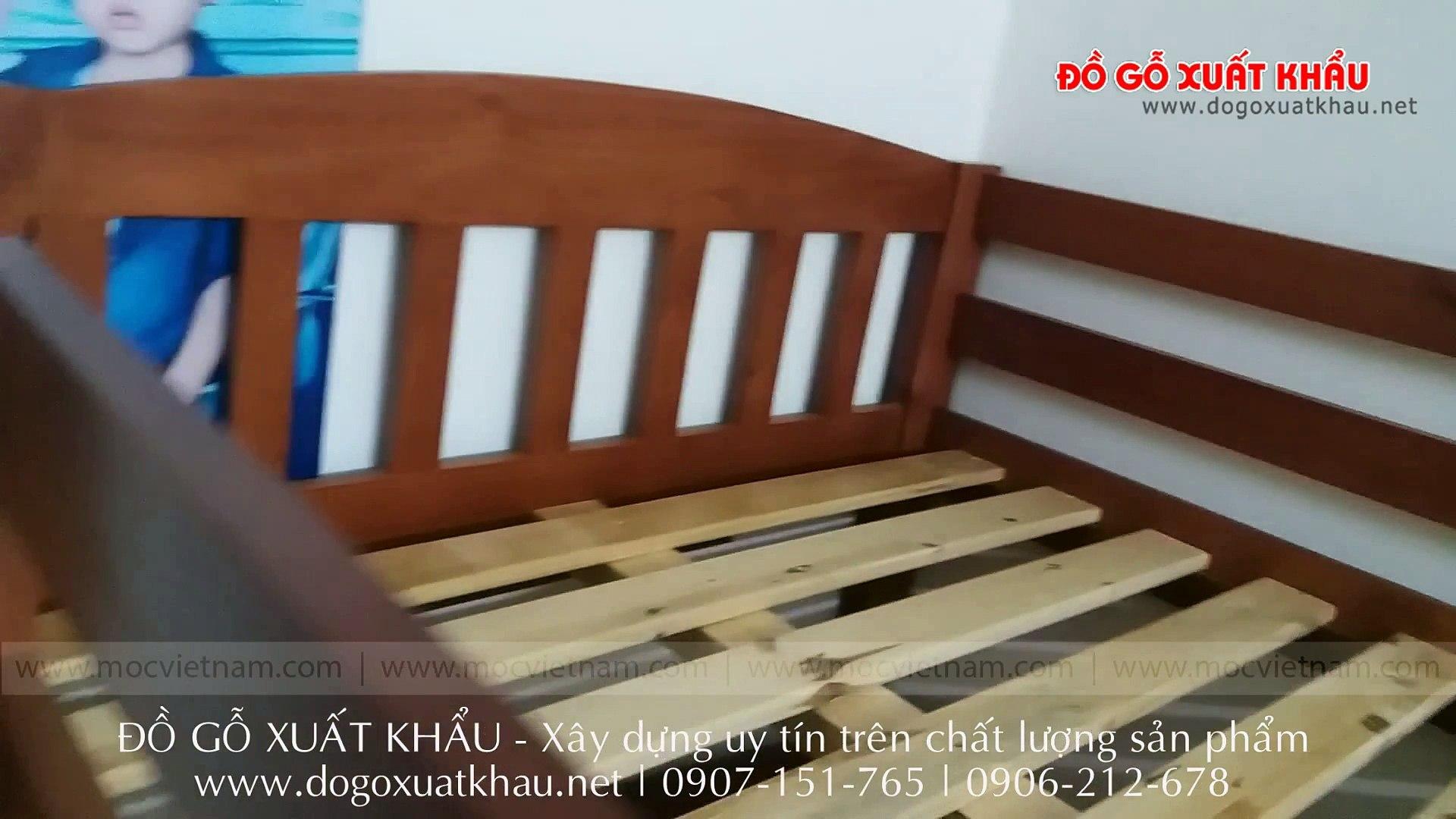 Giường tầng trẻ em giá rẻ tại Vĩnh Long - video clip thực tế tại nhà khách hàng