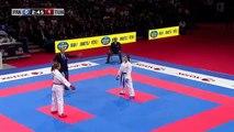 Final Female Kumite -61kg. Lolita Dona vs Boutheina Hasnaoui. WKF World Karate Championships new