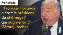 """Emmanuel Macron """"président des très riches"""" selon François Hollande : """"François Hollande, c'était le président du chômage qui augmentait, celui qui a donné à notre pays cette image si négative"""", répond Gérard Larcher #8h30politique"""