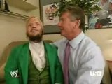 Raw 3 12 07 Vince Mcmahon & Hornswoggle backstage