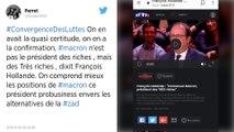 Emmanuel Macron «président des très riches» pour François Hollande.