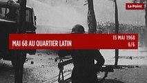 15 mai 68  au Quartier latin 6/6 : des étudiants en arts dramatiques s'emparent du théâtre de l'Odéon