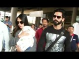 Shahid Kapoor And Mira Rajput Spotted At The Airport With Their Daughter Misha