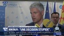 """80km/h: """"C'est une décision stupide"""", déplore le président des Républicains Laurent Wauquiez"""